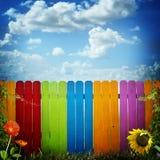 Zaun und Himmel lizenzfreie stockfotografie