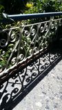 Zaun und Schatten Stockfoto