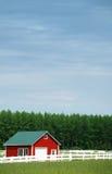 Zaun und Stall Stockfoto
