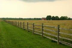 Zaun und Stall Stockbild