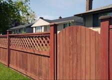 Zaun und Tür Stockfoto