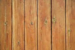 Zaun von den fest genagelten hölzernen Planken stockbilder