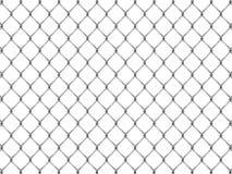 Zaun von der silbernen Masche Stockfotografie
