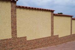 Zaun von Marmorchips mit Ordnung Stockbild