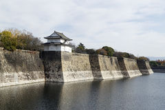 Zaun von Osaka Castle Lizenzfreie Stockbilder