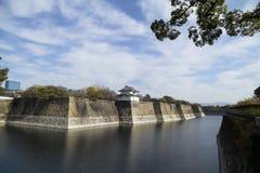 Zaun von Osaka-Schloss umgebend mit Wasser Lizenzfreies Stockbild