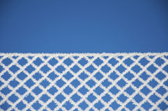 Zaun, Winterbeschaffenheit, Hintergrund Stockfotos
