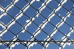 Zaun, Winterbeschaffenheit, Hintergrund Lizenzfreies Stockbild