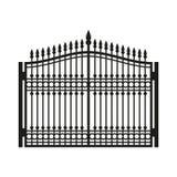 Zaun Wrought Iron Gate Im altem Stil Tür Vektor Stockbilder