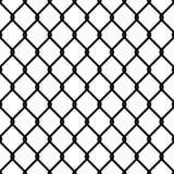 Zaunverbindungsmuster Des Maschentapetensicherheitswandumkreises der nahtlosen Kettenbeschaffenheit schwarzes Gitter der industri vektor abbildung