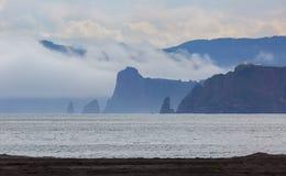 Zavoiko Bay in the Pacific Ocean on outskirts of city Petropavlovsk-Kamchatsky Royalty Free Stock Photo