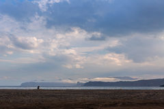 Zavoiko Bay in the Pacific Ocean on outskirts of city Petropavlovsk-Kamchatsky Stock Images