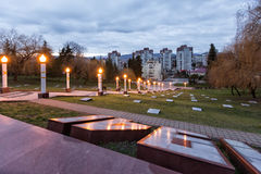 Zavokzalnyi纪念复合体 索契 俄国 库存照片