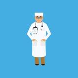 Zawód ikony lekarki projekta mieszkania styl Medyczny szpital, stet ilustracji