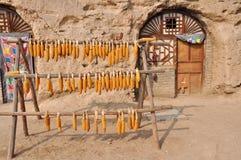 Kukurudze przed jama domem zdjęcie royalty free