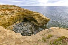 Zawala się na wybrzeżu point loma Fotografia Stock