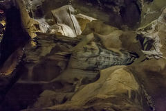 Zawala się obok Bora i jam formacje w jarze rzeka fotografia royalty free