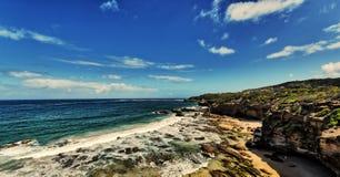 Zawala się plażę Zdjęcia Royalty Free