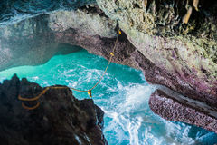 Zawala się raju błękitnego morze i niebo relaksu raj na plażowej turystyce Zdjęcie Royalty Free
