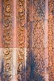 Zawalający się wzory Banteay Srei kasztel obraz royalty free