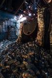 Zawaleni bojlery Kentucky - Zaniechana Stara Taylor destylarnia - Zdjęcia Stock