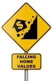 zawalenia się nieruchomości rynku istny drogowego znaka biel royalty ilustracja