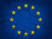 Zawalenie się Europejski zjednoczenie ilustracji