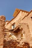 Zawalona ściana dom w fortecy Ait Ben Haddou Zdjęcia Royalty Free