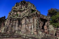 Zawalona Preah Khan świątynia, Siem Przeprowadza żniwa Obrazy Royalty Free