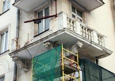 Zawalony balkon obrazy royalty free