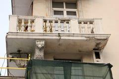 Zawalony balkon fotografia stock