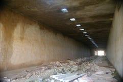 Zawalony fabryczny tunel Fotografia Royalty Free