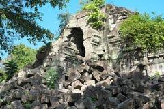 Zawalony galeria Beng Mealea w Siem Przeprowadza żniwa, Kambodża obraz royalty free