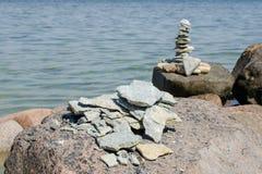 Zawalony kamienny ostrosłup obraz stock