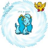 zawiadomienia chłopiec karty kreskówki ilustracja s Fotografia Stock