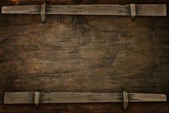 Zawiadomienia drewno z bezpłatną przestrzenią Obraz Royalty Free
