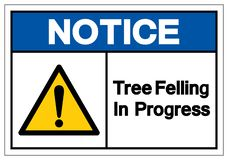 Zawiadomienia drzewo Powalać W Toku symbolu znaka, Wektorowa ilustracja, Odizolowywa Na Białej tło etykietce EPS10 ilustracja wektor