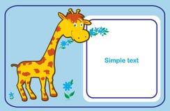 zawiadomienia dziecka karta Obraz Stock
