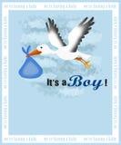 zawiadomienia narodziny karta Zdjęcie Stock