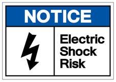 Zawiadomienia porażenia prądem ryzyka symbolu znak, Wektorowa ilustracja, Odizolowywa Na Białej tło etykietce EPS10 ilustracja wektor