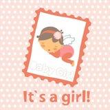zawiadomienia przyjazd jako dziecka karty dziewczyny szablon ilustracji