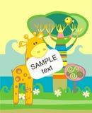 zawiadomienia przyjazdowa dziecka karta Zdjęcia Royalty Free