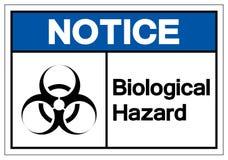 Zawiadomienia zagrożenia symbolu Biologiczny znak, Wektorowa ilustracja, Odizolowywa Na Białej tło etykietce EPS10 ilustracja wektor