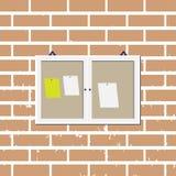 Zawiadomienie deski graficznego projekta szablon ilustracja wektor