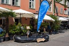 Zawiadomienie Flussfahrten przy Jugendfest Brugg zdjęcia stock