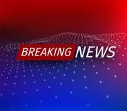Zawiadomienie i wiadomości linia z wiadomością o opóźnionej wiadomości na powietrzu na futurystycznym tle czerwieni i błękita ilustracja wektor