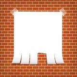 Zawiadomienie na ściana z cegieł Zdjęcia Royalty Free