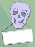 Zawiadomienie w zęby czaszka Obraz Stock