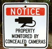 Zawiadomienie znak kamery Żadny zwierzęta domowe Żadny rowery fotografia royalty free
