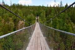 Zawieszenia footbridge Zdjęcia Stock